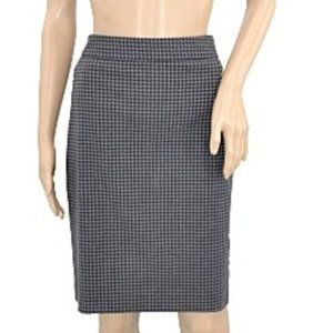 Limited Gray Black Houndstooth Pencil Midi Skirt 8